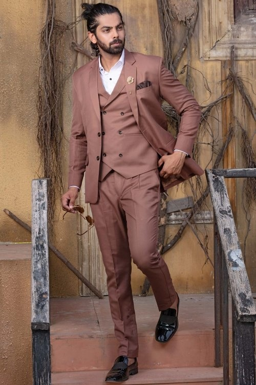 Dusty Pink Viscose Polyester Suit