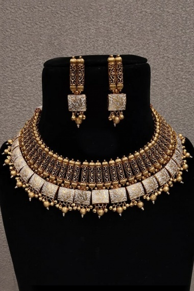 High Gold Plated Handmade Necklace Set