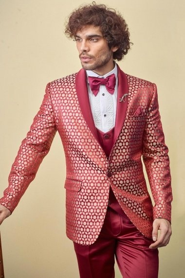 Red Imported 4 Piece Suit