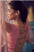 Pink Net Sequins Worked Lehenga with Designer Blouse