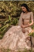 Pink Raw Silk Floral Embroidered Lehenga Choli with Double Dupatta