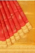 Red and Orange Shaded South Silk Woven Saree