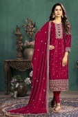 Pink Art Silk Suit with Embroidery
